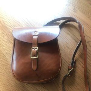 Genuine leather crossbody